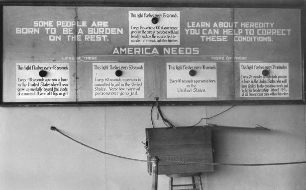 Flashing light sign at fitter family contests via APS archives